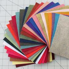 """30 - 6""""X6""""  Sheets Merino Wool blend Felt - Assorted Colors"""