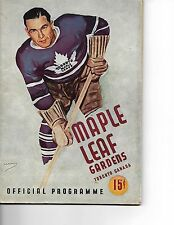1945-46 Toronto Maple Leafs-Canadiens Program Habs Edge Leafs Cup Champs!!