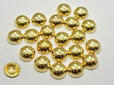 100 Gold Tone Metallic Acrylic Round Dome Studs 12mm No Hole Cell Phone Deco