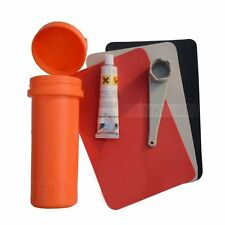 Inflatable Boat Kayak Repair Kit PVC Patch Glue Valve Wrench Container Bucket