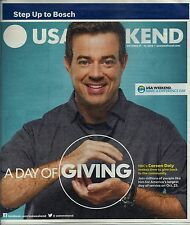 Carson  Daly  on Cover of USA  Weekend  October 19, 2014 FREE SHIPPING