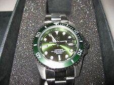 New! 101 200m Scuba DIVERS SUBMARINE Green Bezel MEN'S Watch F/S Japan tracking