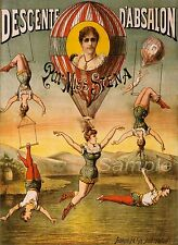 VINTAGE MISS STENA CIRCUS ADVERTISING A4 POSTER PRINT