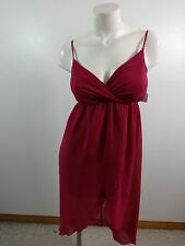 FOREVER 21 WOMENS PINK CHIFFON DANCING COCKTAIL CLUB PARTY DRESS SIZE S