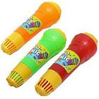 Plastic Echo Microphone Mic Built-in Music Kids Toy Pretend Play Applause Sound