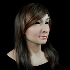 Silicone rubber female mask ultra-realistic with facial movements (SF-N3)
