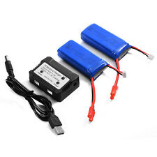 2x 7.4V 2000mAh 25C Lipo Battery + Charger For Syma X8C X8W X8G Quadcopter BC587