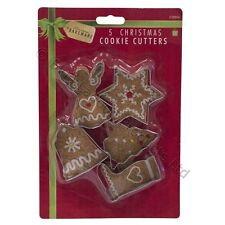 5 Christmas Cookie Cutters Biscuit Pasrty Mould Star Santa Decoration Baking