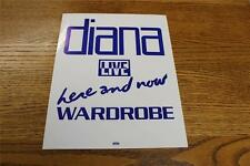 Vintage OTTO Backstage Concert Door Sign Diana Ross Here & Now Live WARDROBE