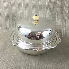 Antique Muffin Food Dome Cover Dish Warmer Wm Suckling Art Deco Silver Plated