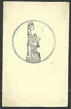 Estampa antigua Virgen de Montserrat andachtsbild santino holy card santini