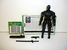 GI JOE SNAKE EYES Action Figure COMPLETE w/FILE CARD 3 3/4 C9+ v24 2005
