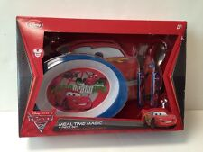 New Disney Store Cars 2 Meal Time Magic 4 Piece Set BPA Free World Grand Prix