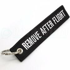 REMOVE AFTER FLIGHT KEYCHAIN QTY= 1 PC BLACK/white TAGS FLAGS PILOT CREW