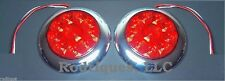 Flat Mount Large Round LED Taillights Dune Buggy Sandrail Golf Cart Truck RatRod