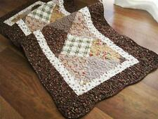 Country Style Diamond Patch Cotton Quilted Mat Rug Floor Runner L