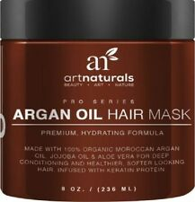 Art Naturals Argan Oil Deep Conditioner 8-ounce Hair Mask Organic Jojoba
