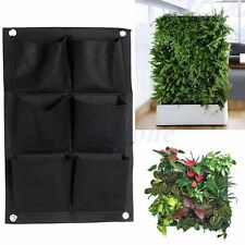6Pocket Vertical Greening Hanging Wall Garden Planting Bag Wall Planter Herb Pot