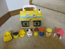 Fisher Price Jumbo Little People 50th Anniversary Carry along Classic house tote