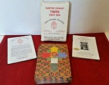 1978 Aleister Crowley Thoth Tarot Cards Deck AC78 White Box 78 Cards Instruction