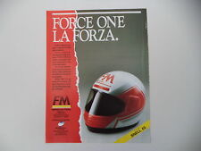 advertising Pubblicità 1989 CASCO FM FORCE ONE