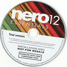New Nero 12 Essentials Burning Software for CD DVD DVD-RW Blu-Ray