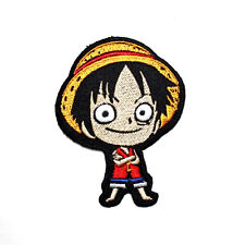 One Piece Japanese Anime Monkey Luffy Pirate Figures Comic T-Shirt Iron on Patch
