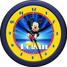 "Personalized Mickey Mouse 2 10.75"" Wall Clock Child / Nursery Decor Room Gift"