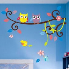 83cm*64cm Owl branch Removable Vinyl Wall Sticker Decal Mural Home Decor