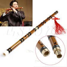Chinese Traditional Musical Instrument Handmade Bamboo Flute Dizi in F Key
