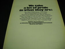 MINNIE RIPERTON Gamble & Huff O'JAYS Ramsey Lewis LABELLE 1975 Promo Display Ad