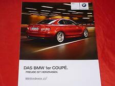 BMW 1er E82 Coupe 120i 125i 135i 118d 120d 123d Prospekt von 2/2010