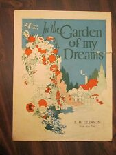 In The Garden Of My Dreams Sheet Music O.T. Greenland 1926 E.H. Gleason Bath, NY