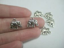 30 Tibetan Silver Tiny Elephant Charms Pendants Beads Double-sided 14mmx12mm