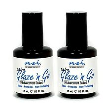 nsi Glaze 'n Go - 15ml - UV Gel Sealant - 2 pack