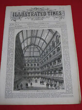1867 ~ ILLUSTRATED TIMES ~ LONDON / EMPEROR NAPOLEON, HANGING, WRECK REGISTER