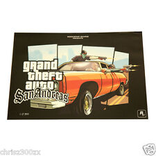 Grand Theft Auto San Andreas Drive By Lithograph Poster Art #/350 Limited Ed.