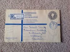 Cheshire, Wirral Postal History, Moreton 4 Registered Townmeadow Lane 1969? 3/4d