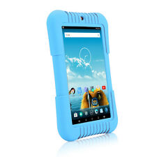 "iRULU 7"" IPS Android 5.1 A33 Quad Core Blue BadyPad 16GB Kid's Reading Tablet PC"