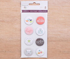 Project Life CURRENTLY EDITION (8) FLAIR BADGES scrapbooking 380624
