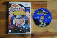 Jeu NARUTO CLASH OF NINJA Revolution pour Nintendo Wii sans notice (CD OK)