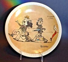Norman Rockwell On Tour - Promenade A Paris Plate - Newell Pottery Brad-Ex