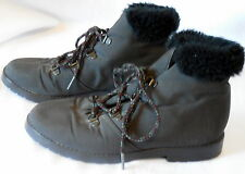 Womens TENDER TOOTSIES size 6 winter snow WARMERS ANKLE BOOT fur lined #39