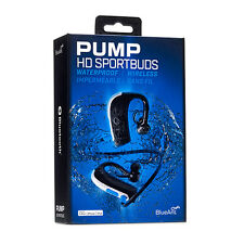 Blueant Pump HD Wireless Bluetooth SportBuds Waterproof Headphone Headset (Black