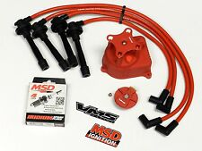 DISTRIBUTOR CAP + ROTOR + WIRES + MSD SPARK PLUGS 96-01 ACURA INTEGRA B18C5 RD