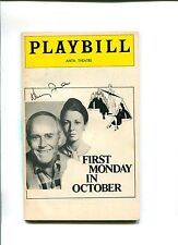 Henry Fonda First Monday In October Broadway Play Signed Autograph Playbill