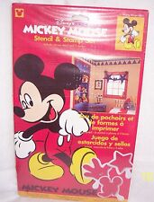 DISNEY  MICKEY MOUSE STENCIL AND STAMP SET : NEW