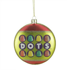 "TR35926 4"" DOTS Fruit Flavor Gumdrop Candy Lane Glass Disk Christmas Ornament"