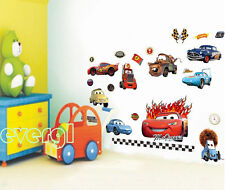 Movie Cars Macqueen Wall Sticker Removable PVC Decals Kids Room Decor DIY Mural