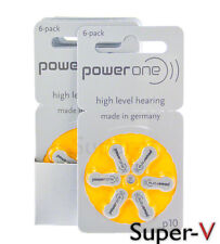 New PowerOne Hearing Aid Batteries Size 10 (60 Batteries) P10, PR70